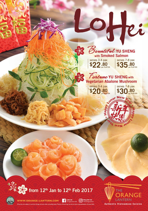 The Orange Lantern CNY Yusheng