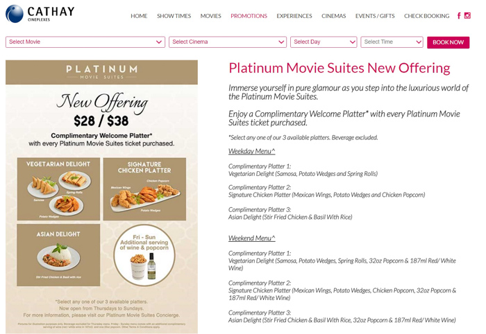 Cathay Cineplex Platinum MovieSuites