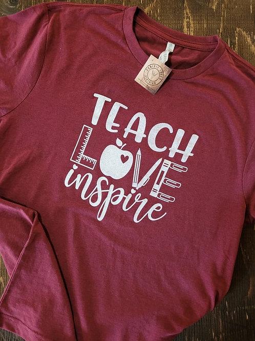 Teach, Love, Inspire Ladies' Tee