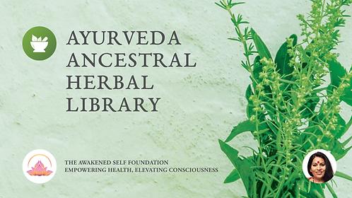 Ayurveda Ancestral Herbal Library