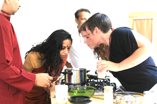 ayurvedic cooking - students
