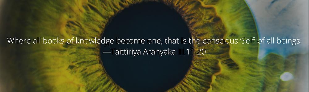 self-knowledge, taittirya aranyaka