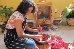 Student Performing Rose Rituals