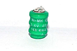 NIMH 3.6V 40MAH BUTTON BATTERY