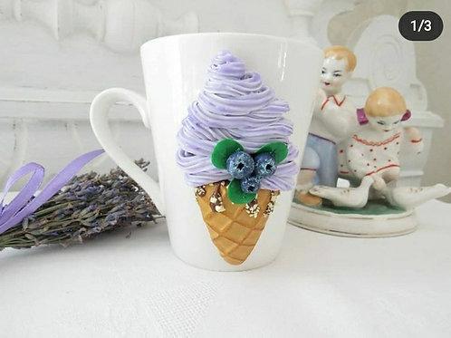 "Handmade Tasse ""Ice cream"" in Geschenkverpackung"