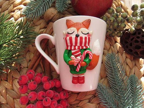 """Handmade Tasse """"Fuchs"""" in Geschenkverpackung"""