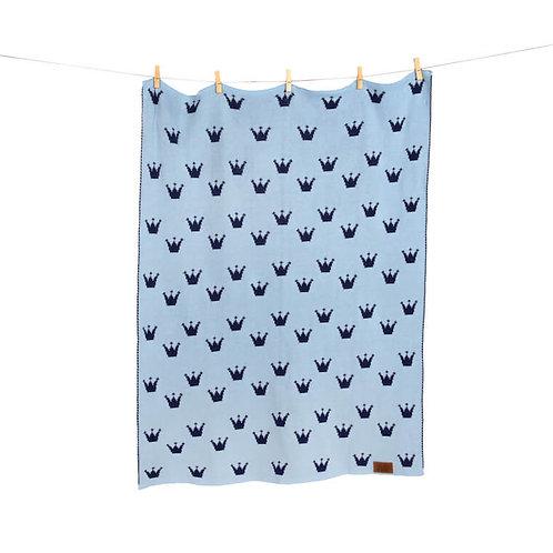 """Gestrickte Babydecke """"Le Petit Prince"""" - Edition blau in Geschenkverpackung"""