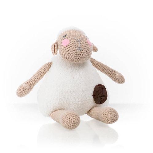 Handmade Kuscheltier - Schäfchen Mouton - Farbe weiß in Geschenkverpackung