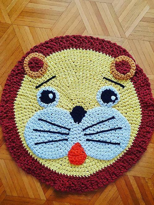 "Handmade Kinder Teppich ""Sunny tiger"" in gelb"