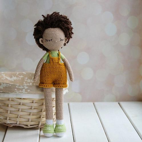 Handmade Puppe Jeacques - in Geschenkverpackung