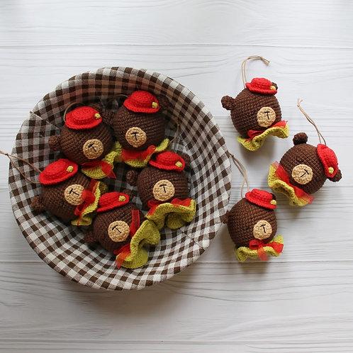 """Handmade Weihnachtskugel """"Bär"""" für Weihnachtsbaum in Geschenkverpackung"""