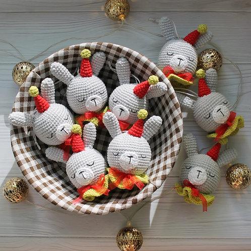 """Handmade Weihnachtskugel """"Hase"""" für Weihnachtsbaum in Geschenkverpackung"""