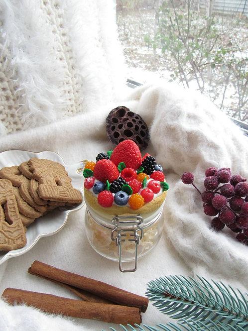 """Handmade Einmachglas """"Honey and berries"""" in Geschenkverpackung"""