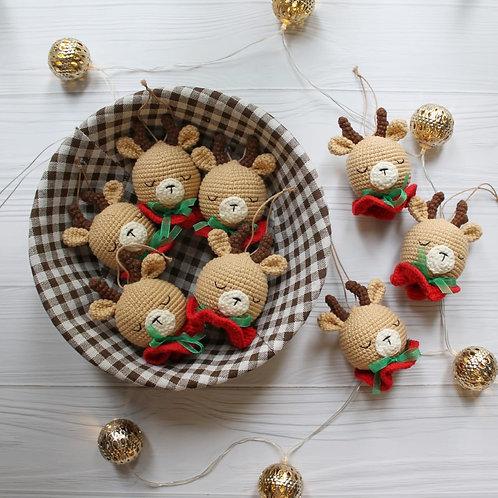 """Handmade Weihnachtskugel """"Rentier"""" für Weihnachtsbaum in Geschenkverpackung"""