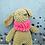Thumbnail: Handmade Kuscheltier - Häsin Olivia - Farbe beige in Geschenkverpackung