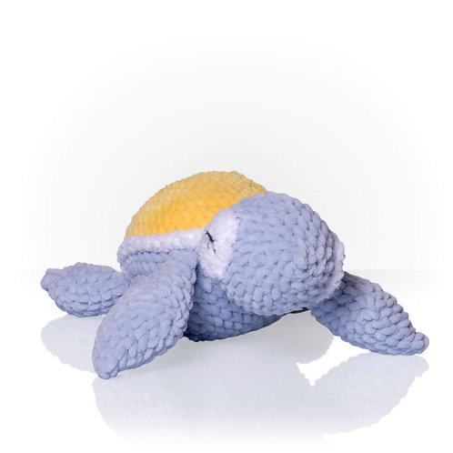 Handmade Kuscheltier - Schildkröte Sasha - Farbe grau in Geschenkverpackung