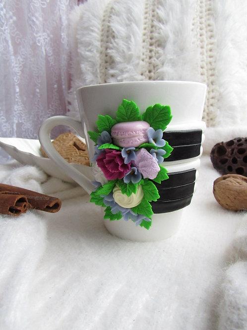"Handmade Tasse ""Klavier"" in Geschenkverpackung"