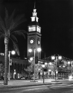 Ferry Building at Night.