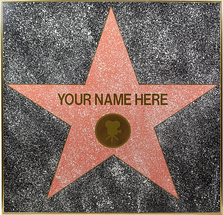 FULL SIZE Personalized Hand-Painted Framed Walk of Fame Star