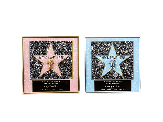"Personalized ""A Star Is Born"" Framed Baby Star"
