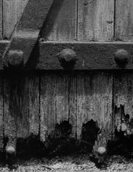 Weathered Bunker Door