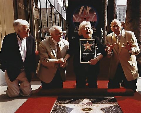 Dick Van Dyke, Johnny Grant, Rose Marie,