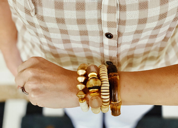Brown and Blush Bracelet
