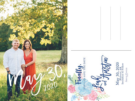 Leah and Austen Save the Date Postcard.j
