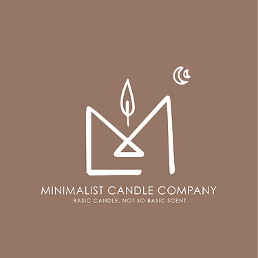 Minimalist Candle Company Logo Brown and