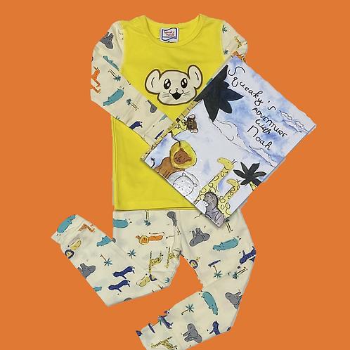 Noah's Ark Pajamas with Matching Book