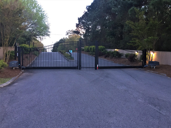 Biparting Gate Entry System