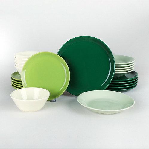 Зелёный градиент, сервиз на 6 персон