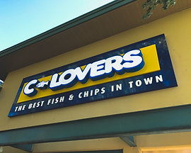C-Lovers Lit up Sign