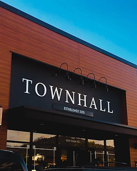 Townhall 3 Deminsional Sign