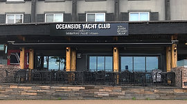 Oceaside Yacht Club lit up sign