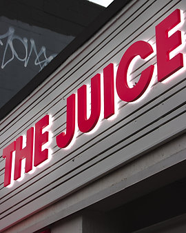 The juice Truck Sign