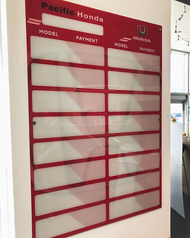Pacific Honda Custom Print Glass Board