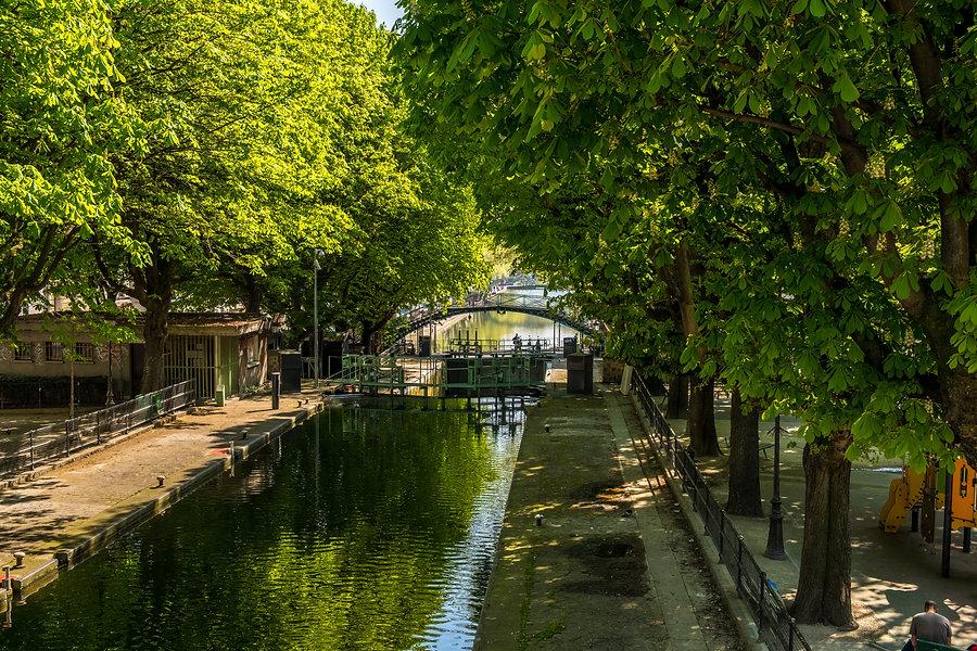 St Martin's canal in Paris X district.jp