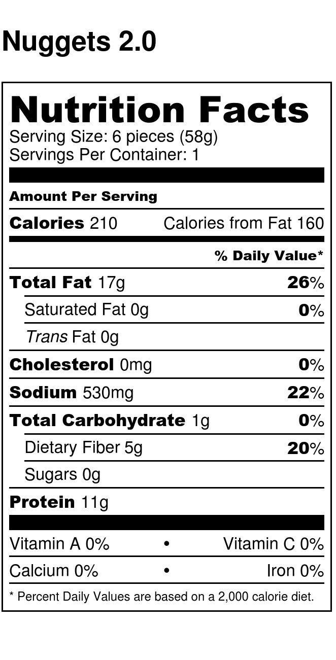 Nuggets 2 0 - Nutrition Label jpg
