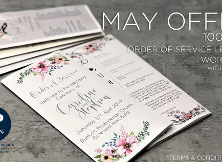 Save £150 off your wedding stationery!