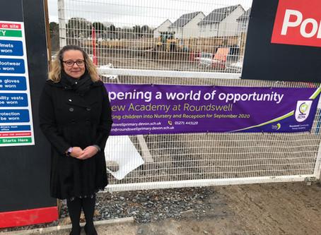 Head Teacher Kate Fairbrother visits site
