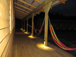 Bunkhouse porch and hammocks