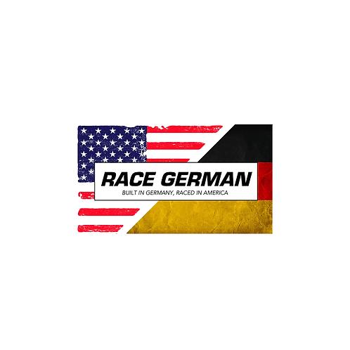 BUILT IN GERMANY, RACED IN AMERICA STICKER