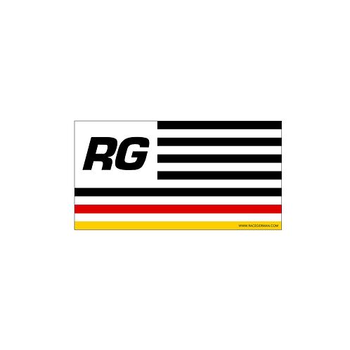 GERMAN USA FLAG STICKER
