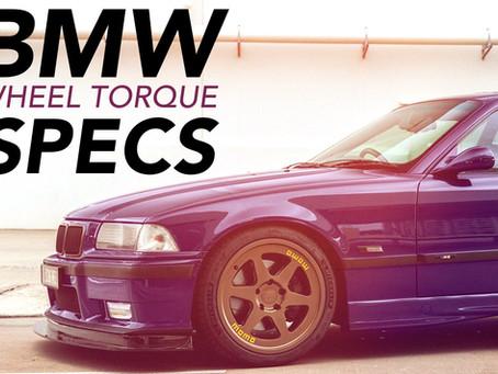 BMW WHEEL TORQUE SPEC CHART