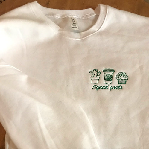 """Squad Goals"" embroidered sweatshirt"