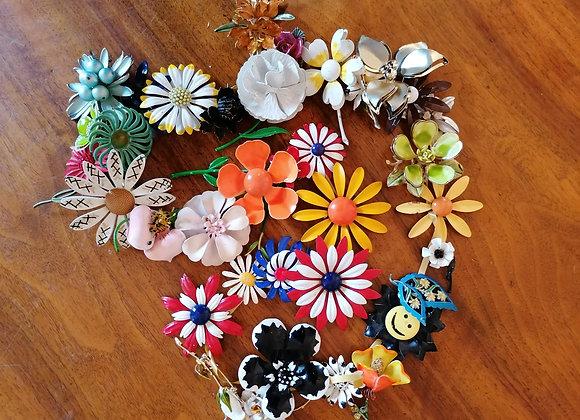 Blumenbroschen aus den 50zigern