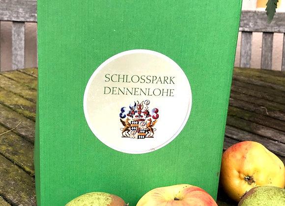 Frischer Bio Apfelsaft aus dem Schlosspark