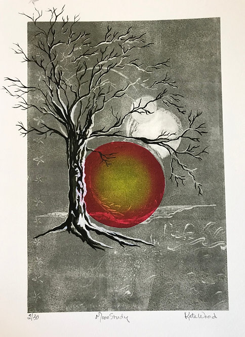 Kate Wood - Moon Study,  Repro Print 2/30 Monotype