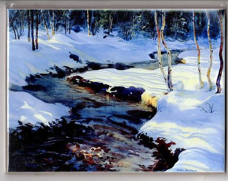 "V35 Vladimir Zhikhartsev #13 EARLY SPRING, 6""x8"" Sublimation tile/trivet"
